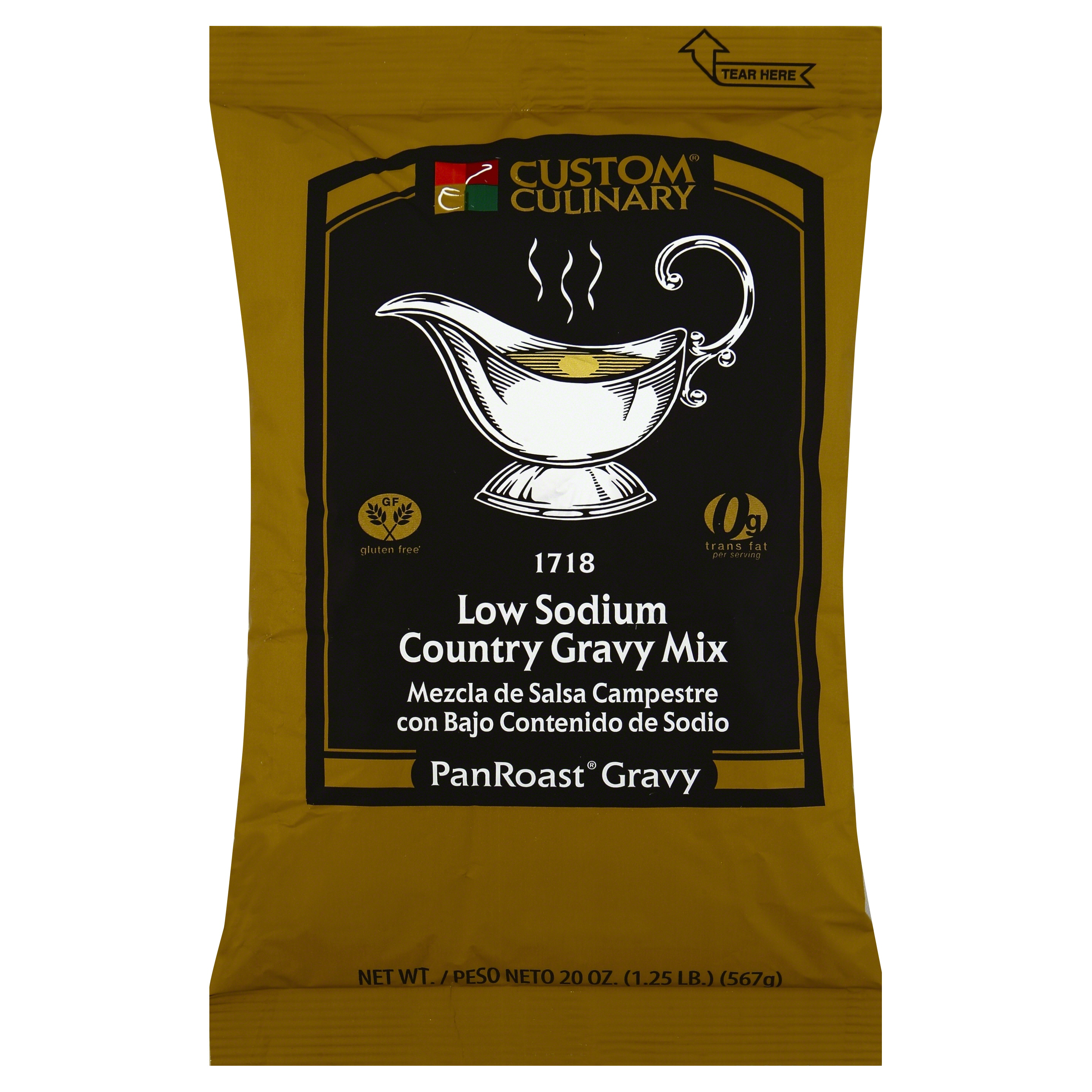 1718 - PanRoast Low Sodium Country Gravy Mix