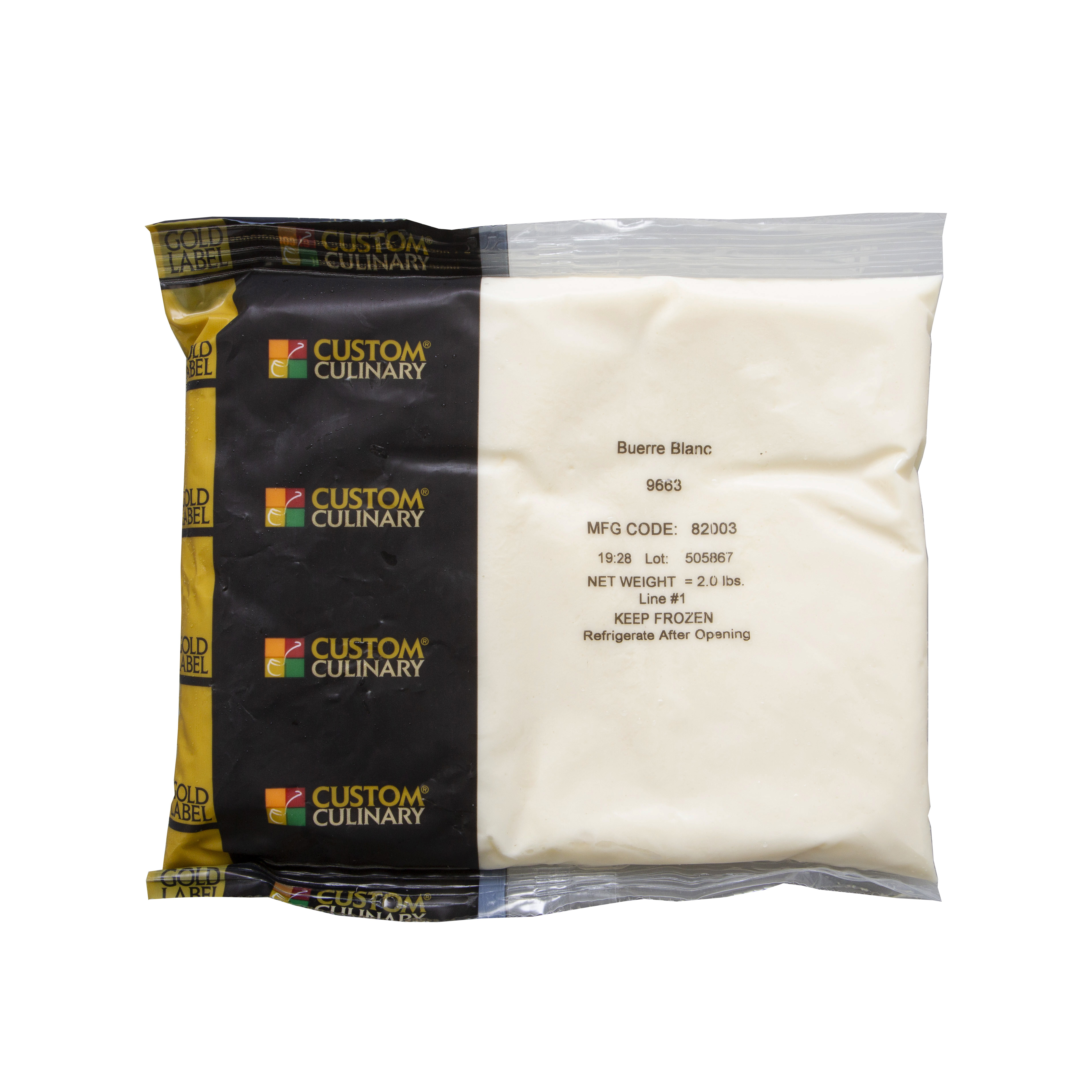 9663 - Gold Label Ready-To-Use Beurre Blanc Sauce with Butter