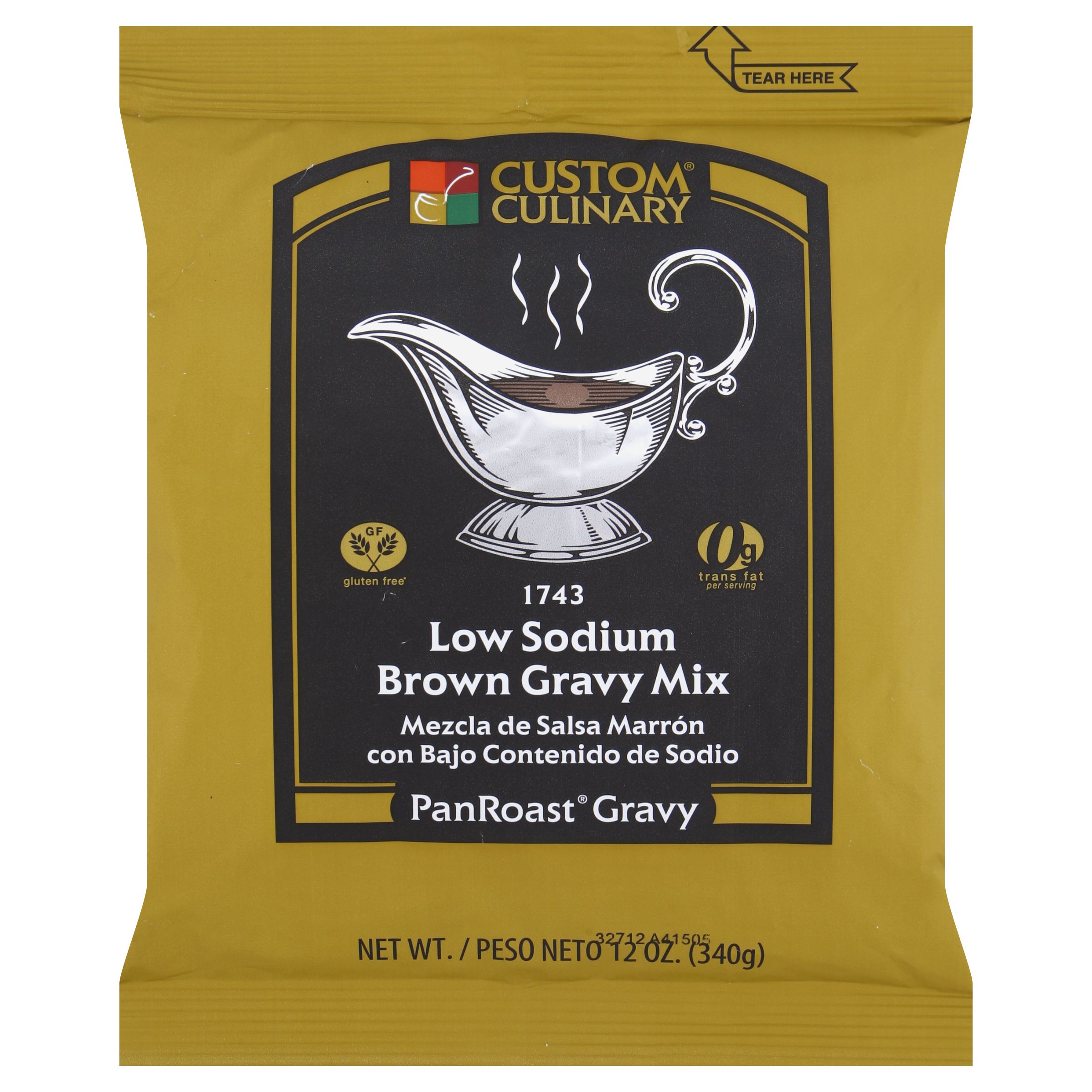 1743 - Pan Roast Low Sodium Brown Gravy Mix